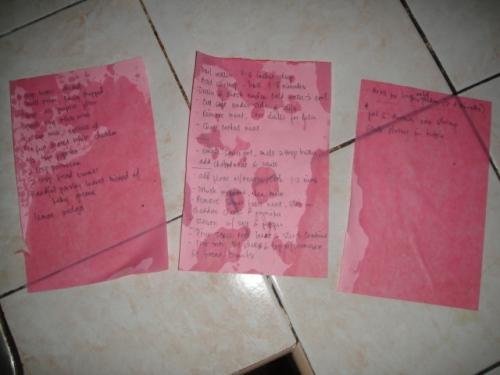My Wet Cheat Sheet!