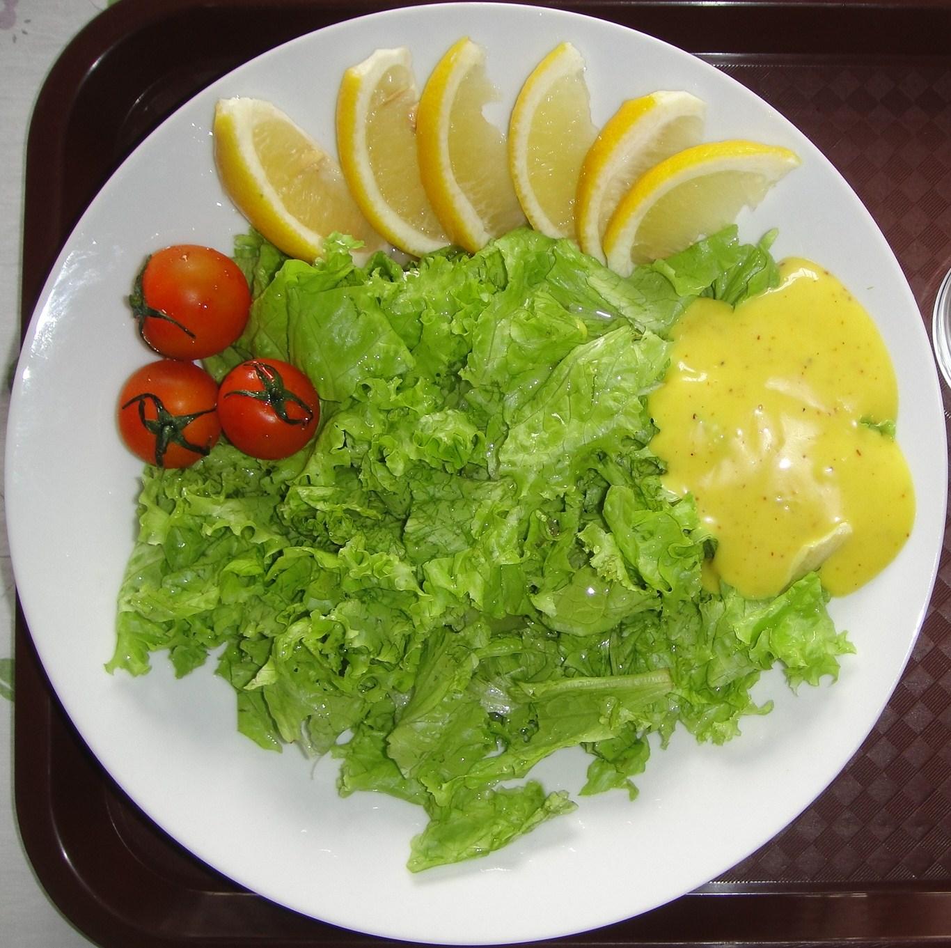 Lettuce Salad with Honey Mustard Dressing | Jazee's Microblog