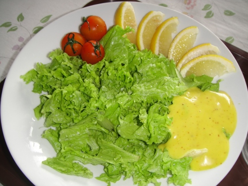 Lettuce Salad w/ Honey Mustard Dressing