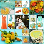 29 keentobeseen aqua orange yellow wedding