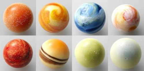 Planetary Chocolates from the Righa Royal Hotels, Japan