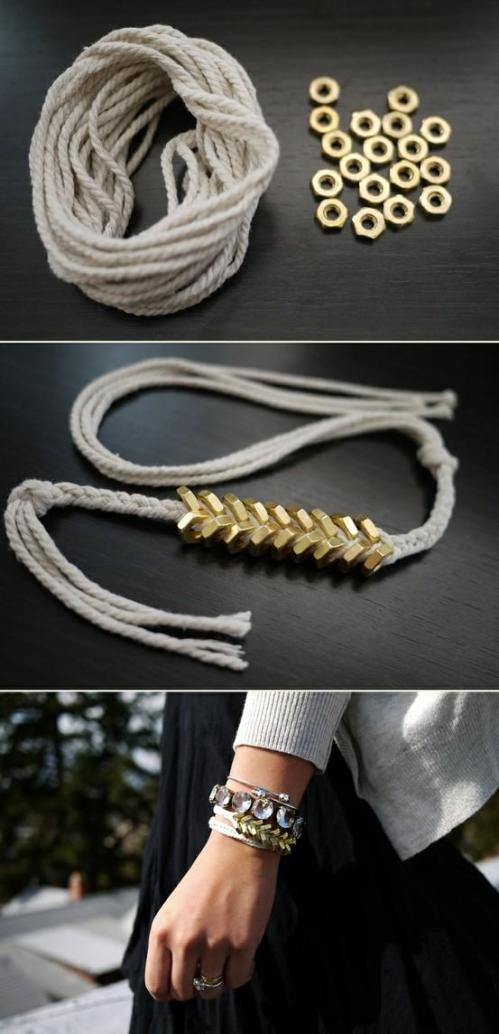 Nut and Strings Bracelet