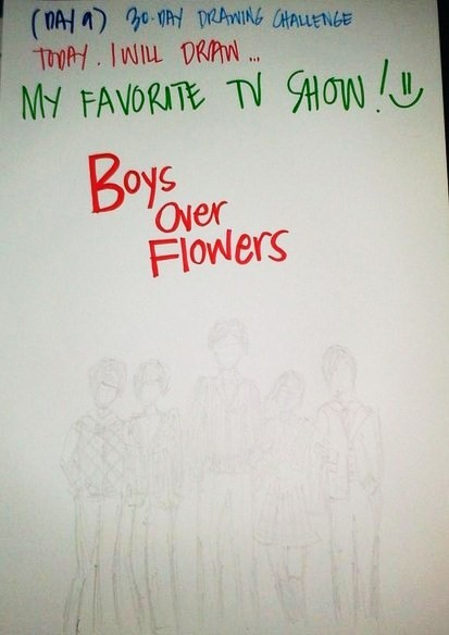 12.21.12 ( Day 9 ) - Today, I will draw MY FAVORITE TV SHOW... Boys Over Flowers