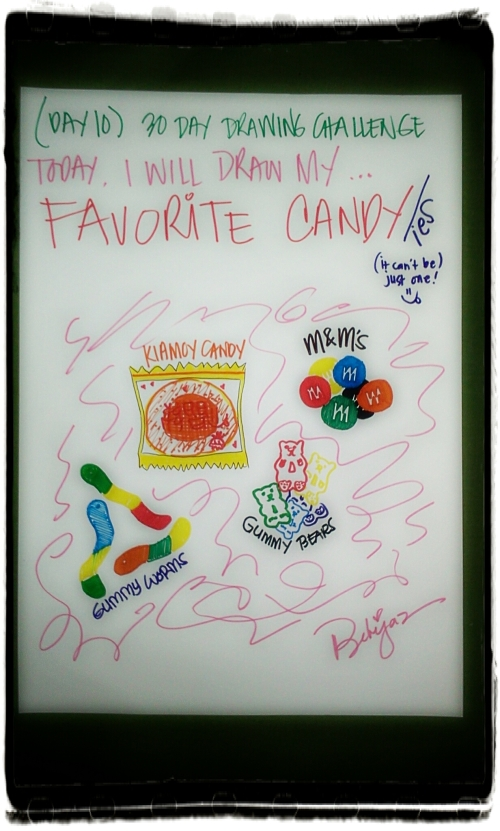 12.22.12 ( Day 10 ) - Today, I will draw MY FAVORITE CANDY/ies! :9