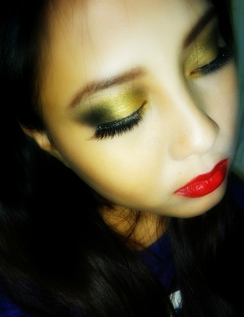 [Make Up] Black-Gold-Red