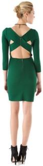 Emerald-dress-cute-back-chic