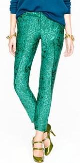 Emerald-metallic-pants