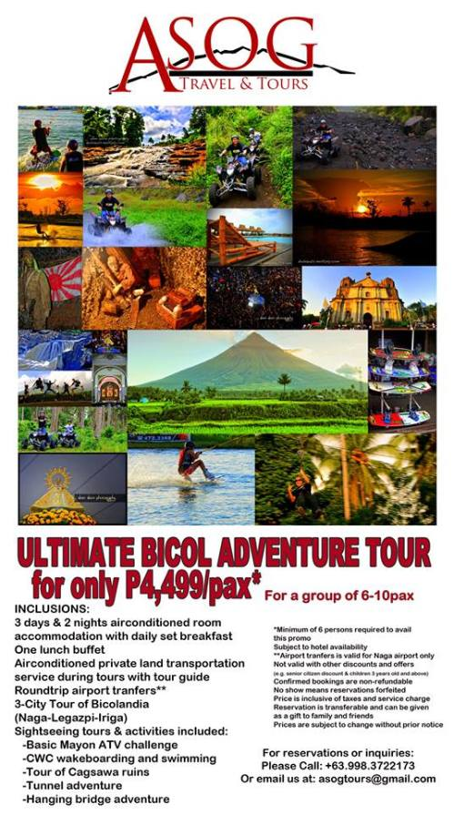ULTIMATE BICOL ADVENTURE TOUR Package