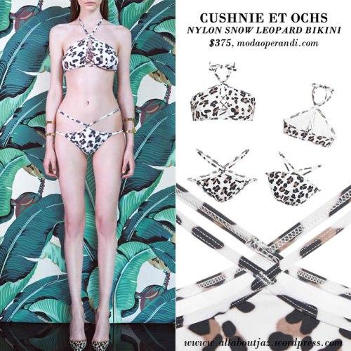 CUSHNIE-ET-OCHS-Nylon-Snow-Leopard-Bikini